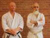 Mazhari Sensei with Mr. Scott Middleton (Chief Instructor: Traditional Karate of Brandon)
