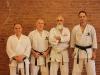 Fred Serricchio Sensei (Chief Instructor: Connecticut Karate Association), John Mullin Sensei (Chief Instructor: WTKO Staten Island), Mazhari Sensei (Chief Instructor: Shotokan Karate Center), Richard Amos Sensei (Chief Instructor: WTKO)