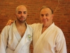 Payman Mazhari of SKC with Serricchio Sensei (Chief Instructor: Connecticut Karate Association)